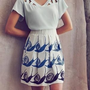 Anthropologie Maeve Swirled Snail Skirt Size XS